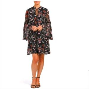 Philosophy Floral Print Dress with Bell Sleeves